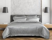 Front view, Armoire Silk blend duvet cover set, a rich platinum