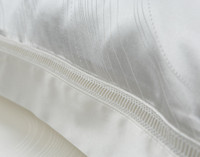 Close-up of Verve inset lace detail on flange