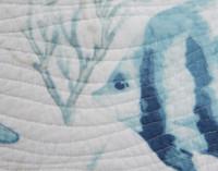 Close up of Westport quilt set pattern of spiral waves