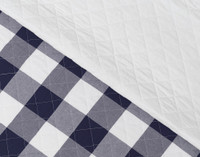 Wellington Navy Quilt Main Side and Reverse Close-up