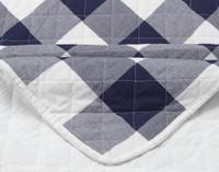 Wellington Navy Quilt Corner Close-up