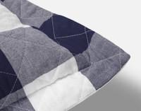 Wellington Navy Quilt Set Pillow Sham Corner Close-up