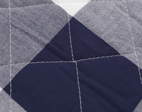 Wellington Navy Quilt Set Close-up