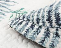 Close up of Forest Fern Pillow Sham flange.