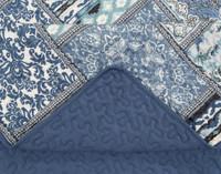 Close up of Talia Coverlet Set seams.