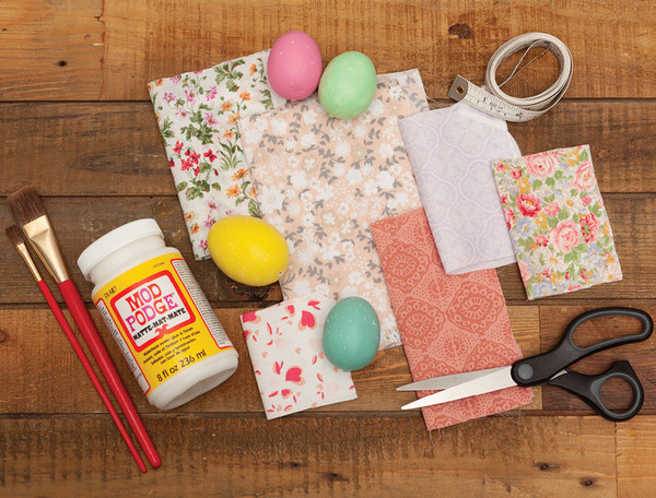 DIY Fabric Covered Easter Eggs