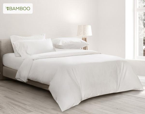 Bamboo Cotton Duvet Cover set in White