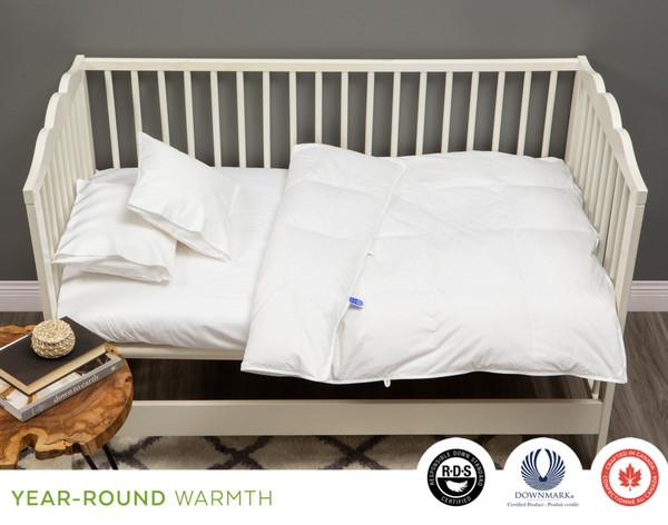 Crib-Sized White Goose Down Duvet