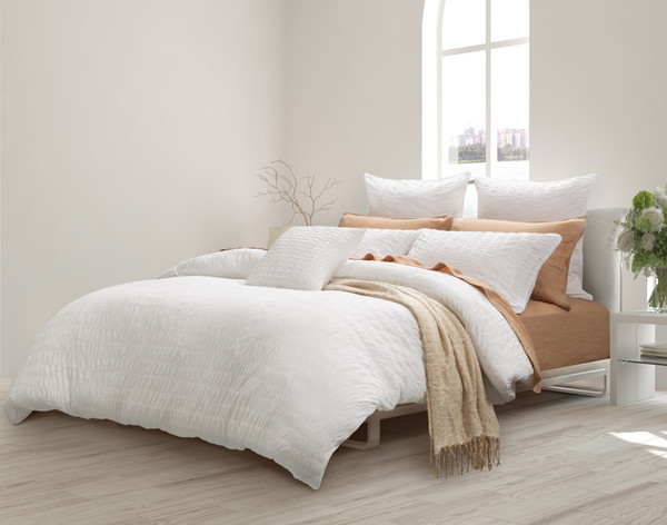 Kailua Duvet Cover in a casual bedroom