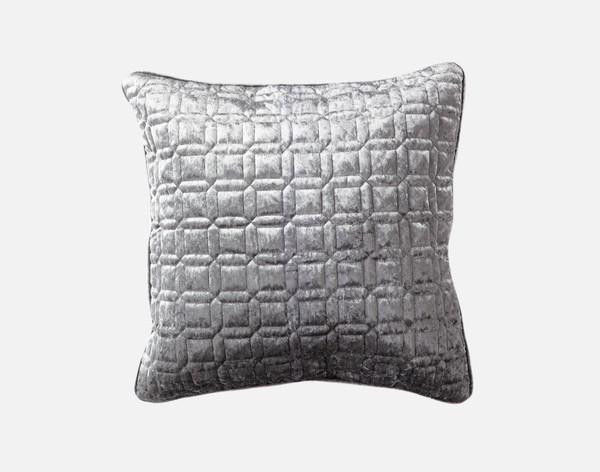 Lennox Velvet Square Cushion Cover  - Platinum