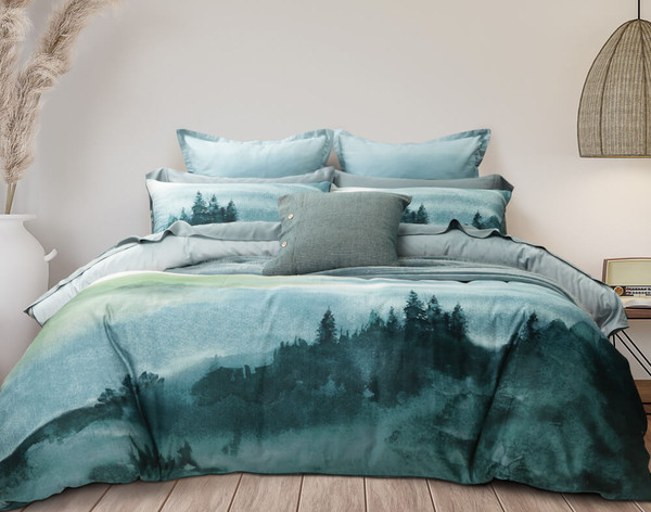 Front view of Greendale Duvet Cover