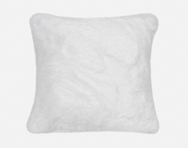 Faux Lambskin Euro Sham in Snow, a crisp white.
