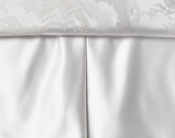 Travertine Bedskirt in White