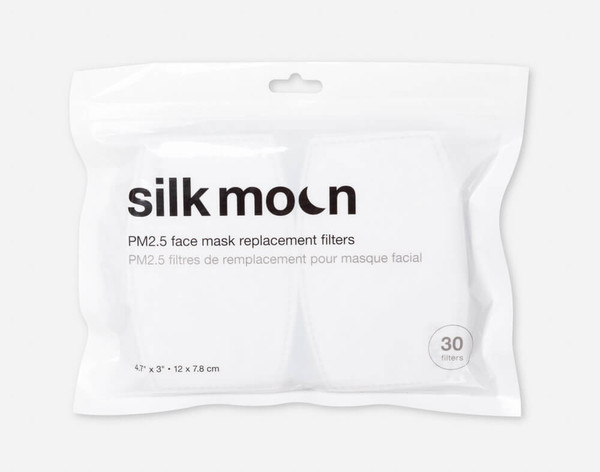 PM2.5 Face Mask Replacement Filters - Pack of 30