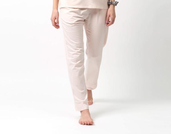 Modal Jersey Lounge Pants in Ballet Pink on model