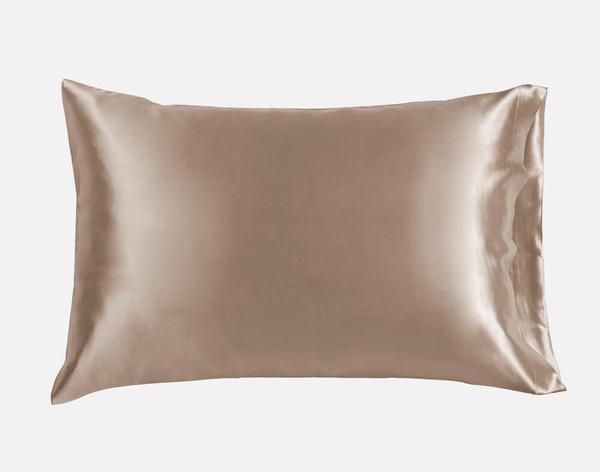 100% Mulberry Silk Pillowcase in Bronze.