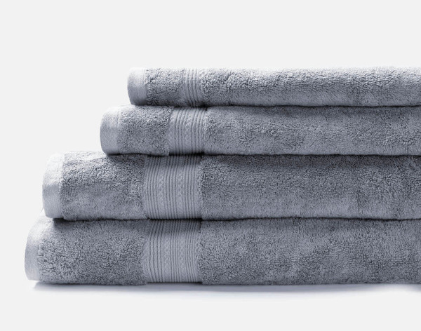 Modal Cotton Towels in French Blue.