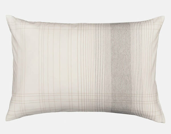 Mitchell Pillow Sham features the same oversized plaid focused to one side.