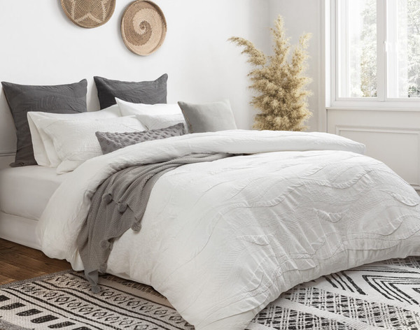 Angled view of Anira Bedding Collection