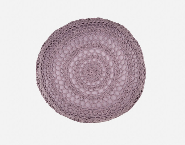 Close-up of the Greta Round Cushion Cover.