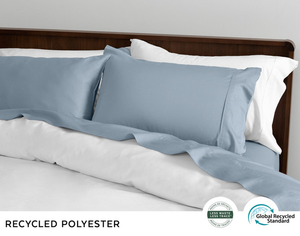 Recycled Polyester Sheet Set - Blue