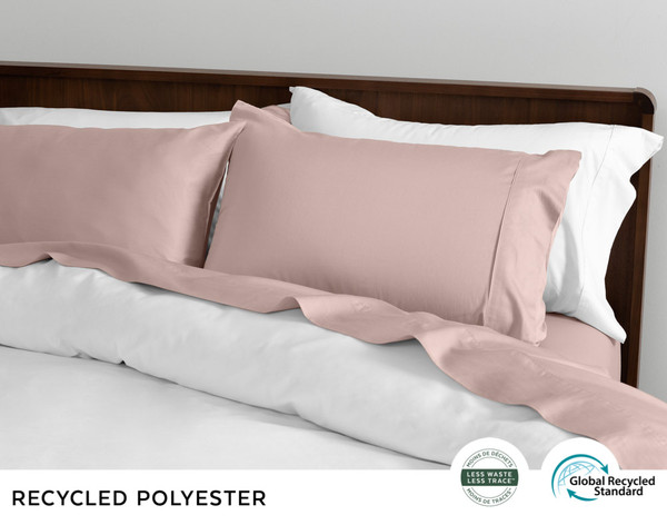 Recycled Polyester Sheet Set  - Rose Frost
