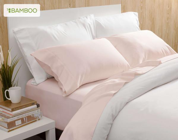 Bamboo Cotton Sheeting in Blush pink
