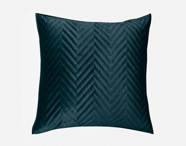 Front view of our Quilted Chevron Euro Sham in Teal.