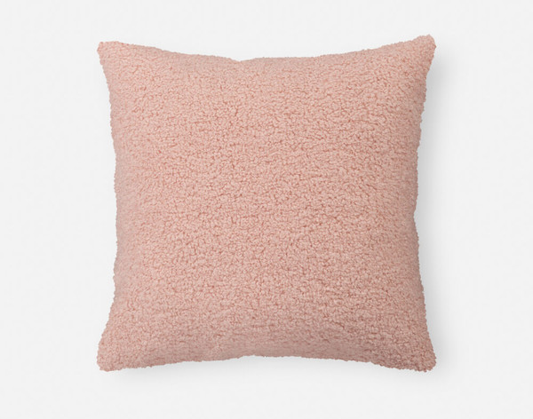 Front view of our Boucle Euro Sham in Blush.