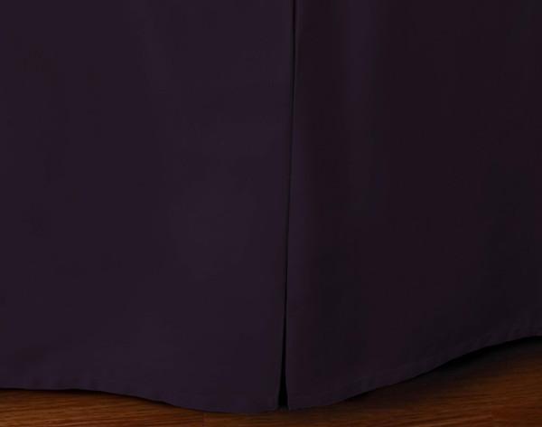 Cotton Blend Bedskirt in Plum.