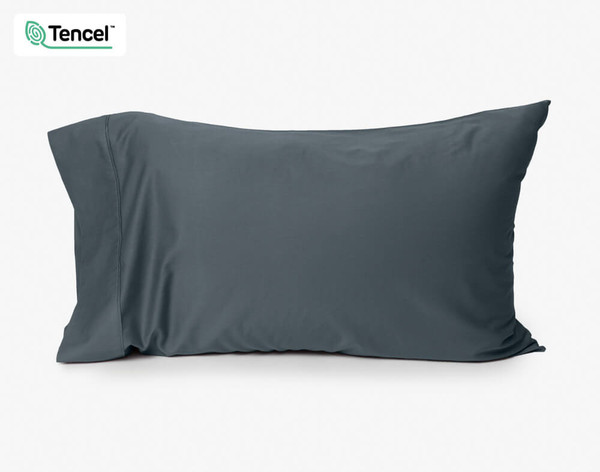 500TC Eucalyptus Luxe TENCEL™ Lyocell Pillowcase in Thundercloud Grey.