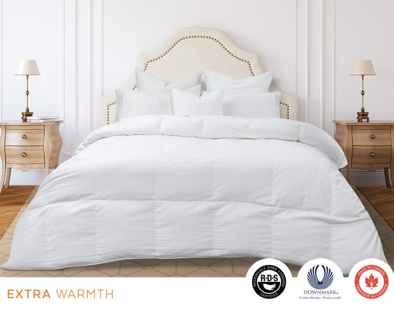 Legacy Hutterite White Goose Down Duvet, front view