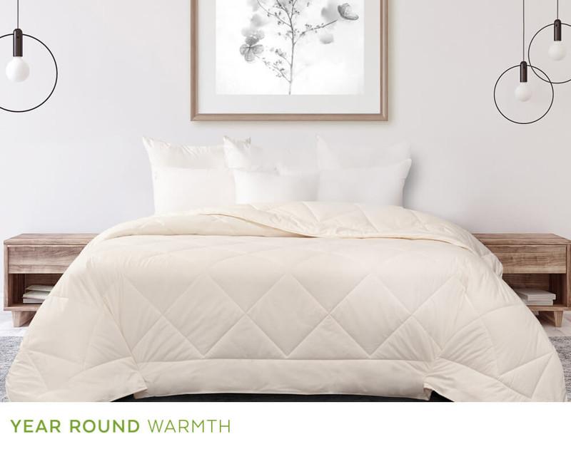 Pure Australian Wool Duvet, front view