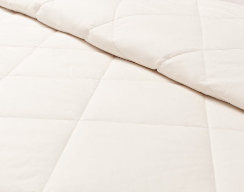 Pure Australian Wool Duvet, close-up on bed
