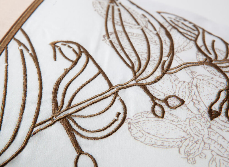 Close up of stitched pattern