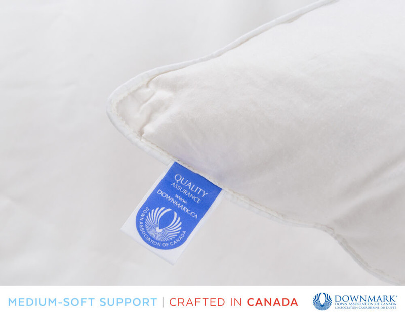Luxurious Down Pillow, Downmark certified tag