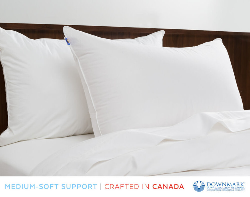 Luxurious Down Pillows on bed