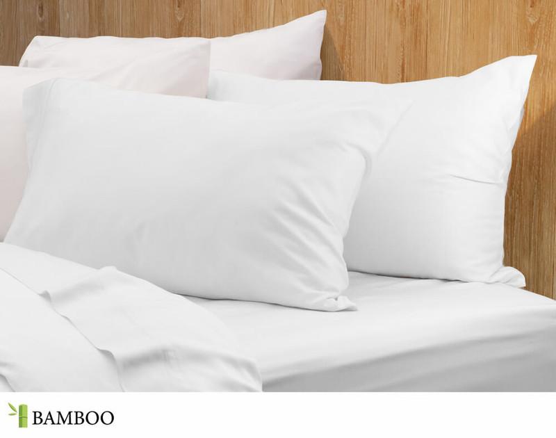 Bamboo Cotton Pillowcases set in White