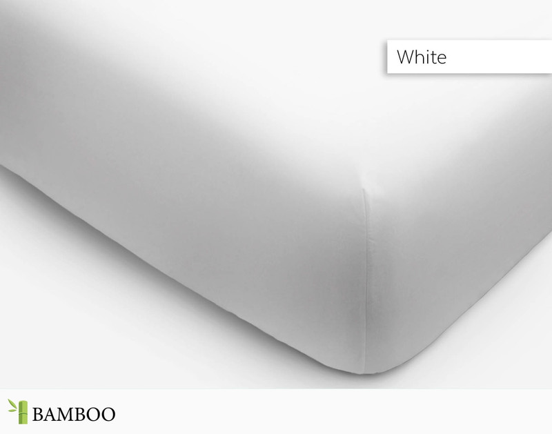 Bamboo Cotton Fitted sheet set in White