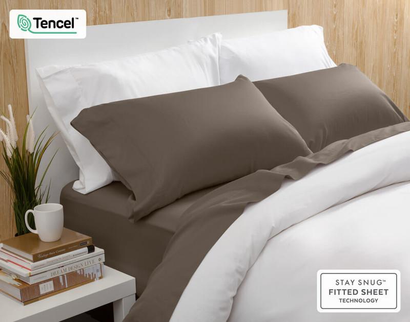 BeechBliss TENCEL™ Modal Sheet Set in Porcini, a light brown colour