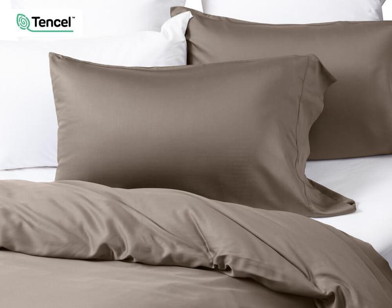BeechBliss TENCEL™ Modal Duvet Cover in Porcini, a light brown colour