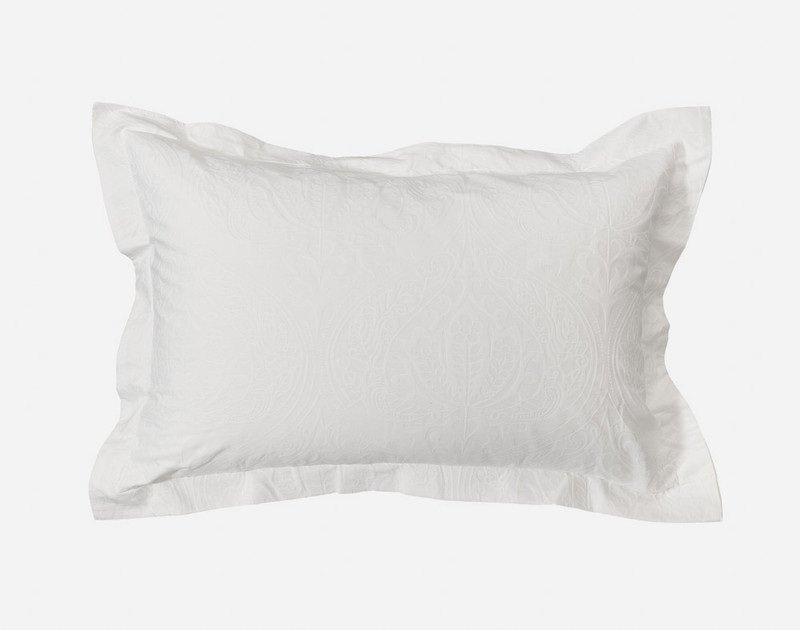 Astoria White Pillow Sham with two inch flange