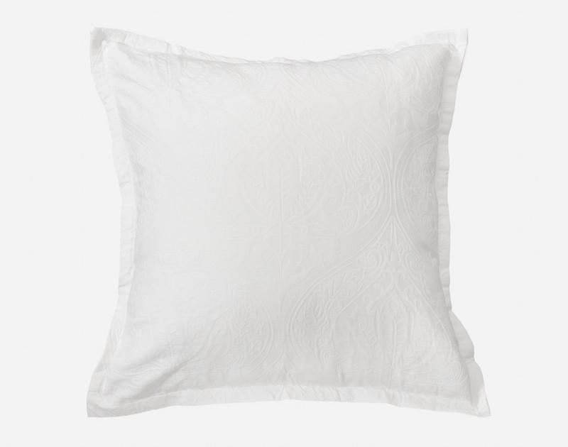 Astoria White Euro Sham with one inch flange