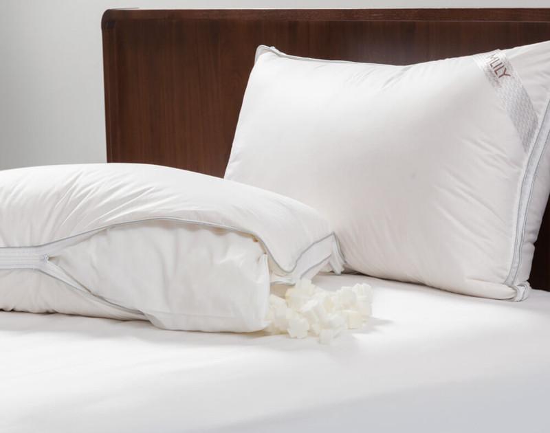 MLILY® Adjust-A-Pillow Memory Foam Pillow unzipped to show foam.