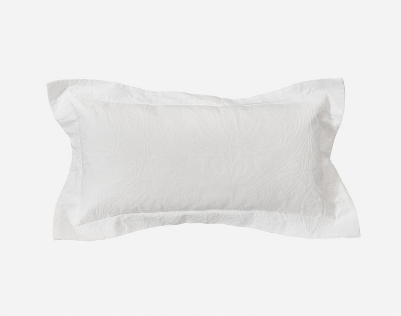 Astoria White Boudoir Cushion Cover with two inch flange