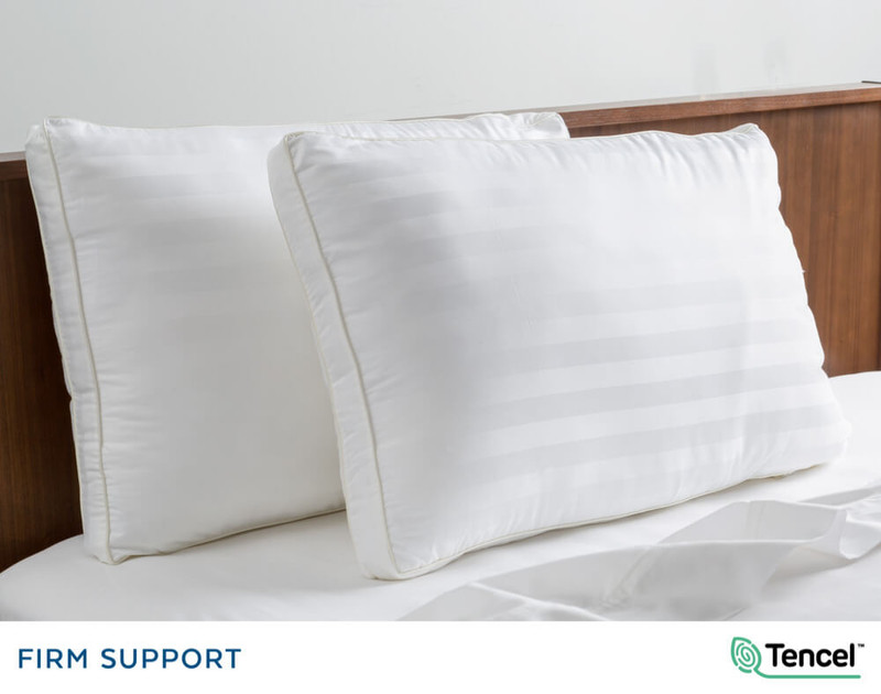 Advanta Microgel Pillows on bed