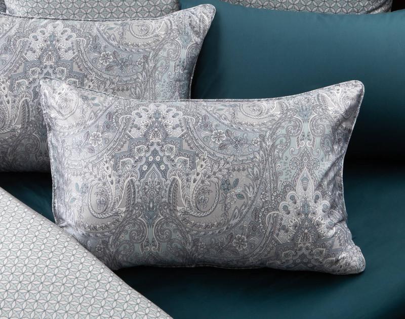 Danube Pillow Sham on bed