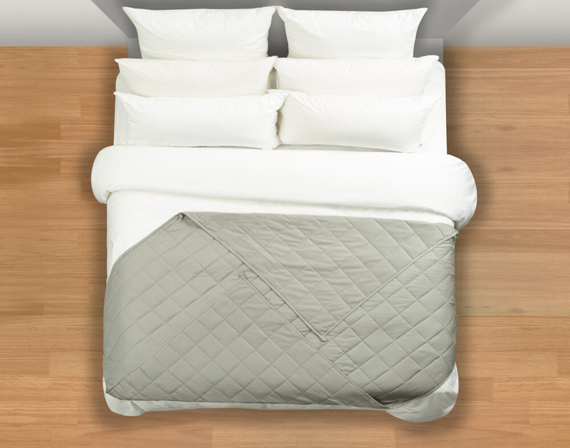 Balance Weighted Blanket at the foot of a bed