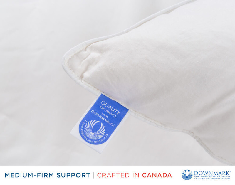Firma Down Pillow, Downmark Certified tag