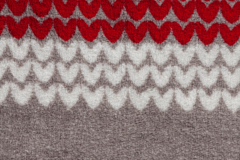 Close-up view of the Canada Fleece Throw pattern.